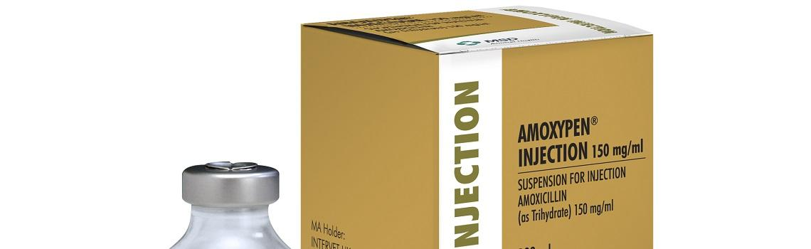Image of Amoxypen bottle next to it's cardboard carton