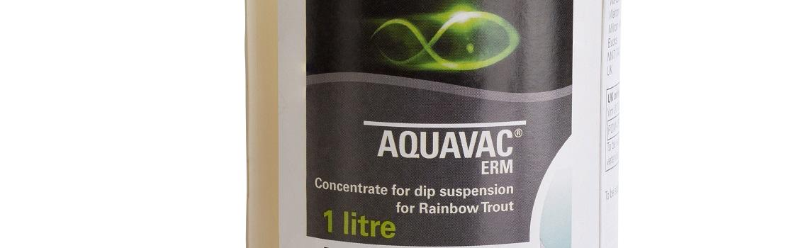 Zoomed in image of AquaVac ERM bottle showing product name