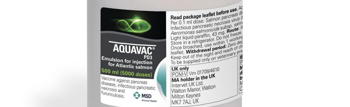Zoomed in image of AquaVac PD3 bottle showing product name