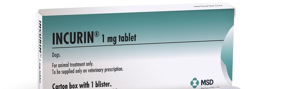 image of blister pack of 30 incurin tablets next to cardboard carton