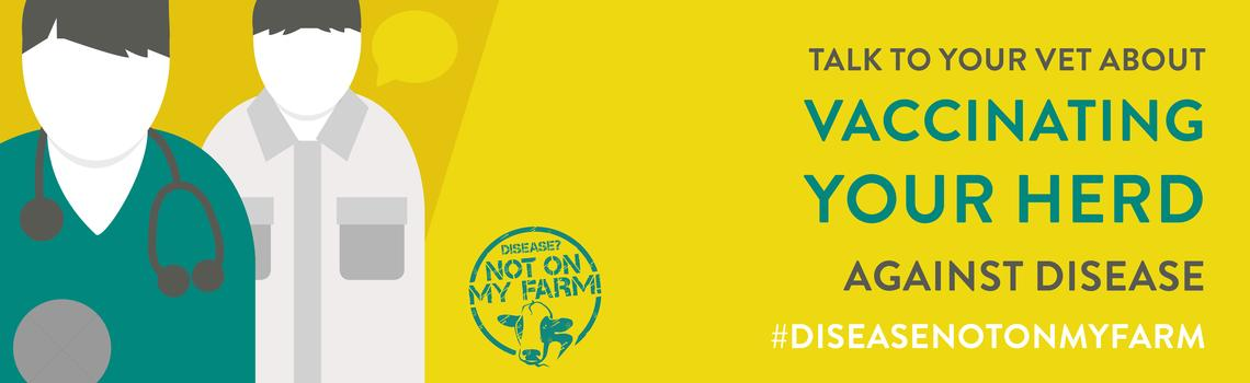 Disease? Not On My Farm! vaccination  infographic