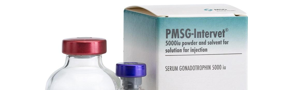 Image of PMSG and solvent bottles next to it's cardboard carton