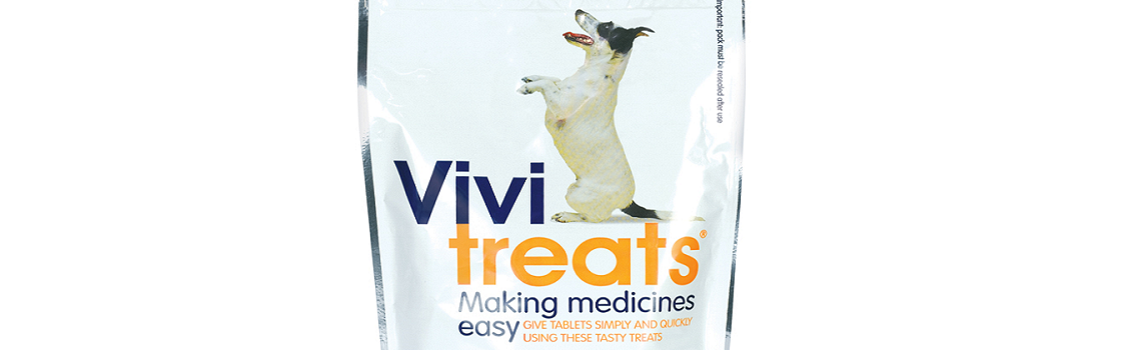 Image of the top part of Vivitreats pack containing 30 tablets