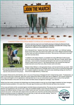 Image of DNOMF Sheep lameness case study Richard Mouland