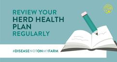 Disease? Not On My Farm! herd health plan imagery