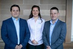 Team L to R; Nikolaos Steiropoulos, Camilla Wilson, Liam Doherty