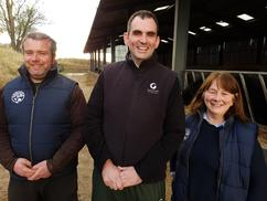 Fiona and Graeme Skeen with Veterinary surgeon Iain McCormick (center)