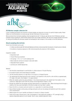 Instructions for serology sampling for monitoring fish at sea