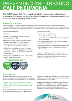 Information sheet detailing to prevent and treat pneumonia