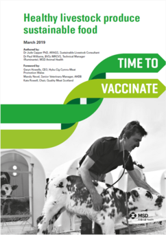 Image of the front page of time to vaccinate healthy livestock whitepaper