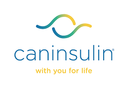 Image of Caninsulin logo and strapline 'with you for life'