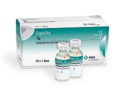Image of Equilis Te vials next to their cardboard carton