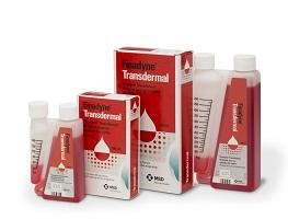Image of Finadyne Transdermal bottles next to cardboard cartons