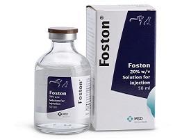 Image of Foston bottle next to it's cardboard carton