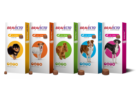 Bravecto Dog Chew product range
