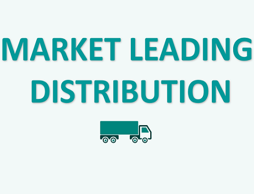 """Image of text """"Market leading distribution"""""""