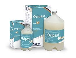 Image of Ovipast Plus bottle and cardboard carton
