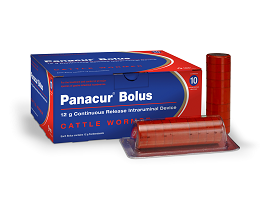 Image of Panacur Bolus next to it's cardboard carton