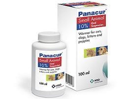 Image showing Panacur® 10 % Oral Suspension packaging.