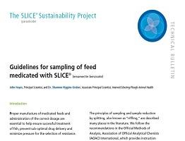 Image of sampling feed medicated with SLICE Technical Bulletin