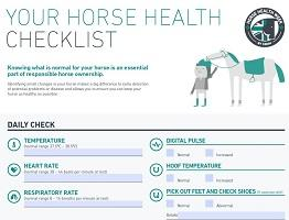 Thumbnail image of Horse Health Checklist