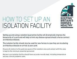 Keeping Britain's Horses Healthy isolation guide