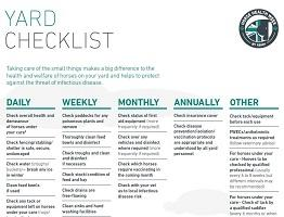 Image of Keeping Britain's Horses Healthy yard checklist
