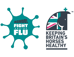 Image of achoo fight equine flu campaign logo and KBHH logo