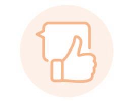 Image of orange social media pictogram