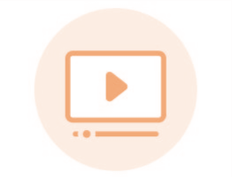 Image of orange video icon