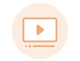 Image of orange video icon