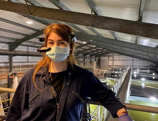 Image of Emily Underhill, senior technician and fish health coordinator