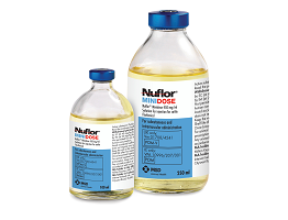 Image of Nuflor minidose bottles, from MSD Animal Health