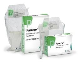 Paracox-5® Oral suspension bottle next to it's cardboard carton