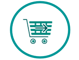 Image of an icon of a shopping cart