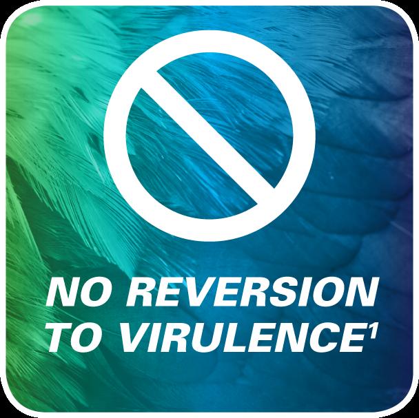 Innovax no reversion to virulence